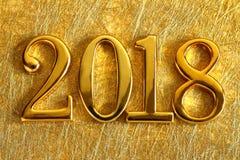 Guld 2018 och garnering royaltyfri fotografi