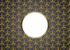 Guld- och mörk tappningbakgrund Arkivbild
