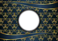 Guld- och mörk tappningbakgrund mellanrum för meddelande eller text Fotografering för Bildbyråer