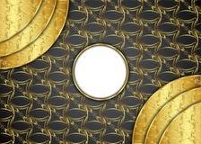Guld- och mörk tappningbakgrund mellanrum för meddelande eller text certifikat Royaltyfria Foton