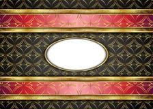 Guld- och mörk tappningbakgrund mellanrum för meddelande eller text certifikat Arkivbild