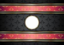 Guld- och mörk tappningbakgrund mellanrum för meddelande eller text certifikat Royaltyfri Foto
