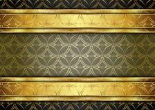 Guld- och mörk tappningbakgrund mellanrum för meddelande eller text certifikat Royaltyfri Fotografi