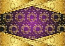 Guld- och mörk tappningbakgrund mellanrum för meddelande eller text certifikat Royaltyfria Bilder