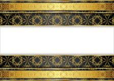 Guld- och mörk tappningbakgrund mellanrum för meddelande eller text certifikat Arkivfoto