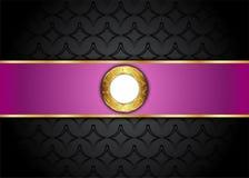 Guld- och purpurfärgad tappningbakgrund mellanrum för meddelande eller text certifikat Arkivbilder