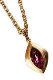 Guld- och rubinhänge på kedja Royaltyfria Foton