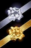 Guld- och silverbow Arkivbild