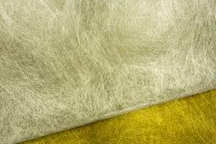 Guld- och silverfibertextur Royaltyfri Fotografi