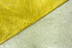 Guld- och silverfibertextur Arkivbilder