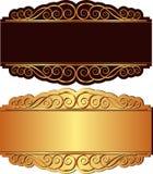 Guld- och svart bakgrund Royaltyfri Bild