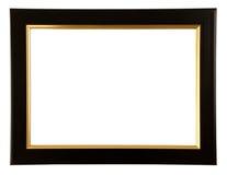 Guld och svart färgram Arkivbild