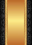 Guld och svartbakgrund Royaltyfri Foto