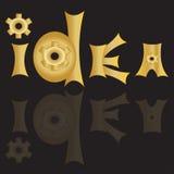 Guld och svartbakgrund, spegeleffekt, bokstäver Vektor Illustrationer