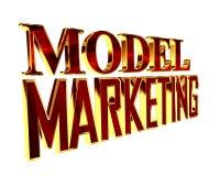 Guld- omfattande modellmarknadsföringstext på en vit bakgrund vektor illustrationer
