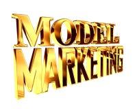 Guld- omfattande modellmarknadsföringstext på en vit bakgrund stock illustrationer