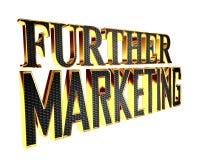 Guld- omfattande ytterligare marknadsföringstext på en vit bakgrund stock illustrationer