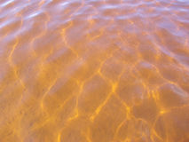 Guld- orange vatten Royaltyfria Foton