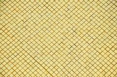guld- originell tegelplatta Fotografering för Bildbyråer