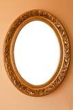 guld- oval för ram royaltyfria bilder