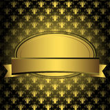 guld- oval för ram Arkivbild