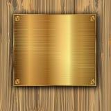 Guld på plankor Fotografering för Bildbyråer