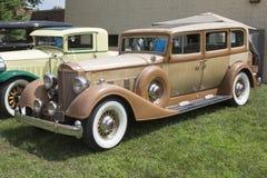 1934 guld- Packard modellbil 1108 Royaltyfri Foto