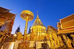 Guld- pagod av Doi Suthep Arkivfoton
