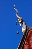 Guld- pagod i blå himmel Royaltyfria Foton