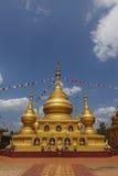 Guld- pagod i Burma Arkivfoto