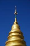 Guld- pagod under den blåa himlen Arkivfoton