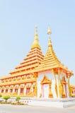 Guld- pagoda på det thailändska tempelet, Khonkaen Thailand Royaltyfria Bilder