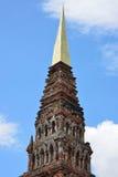 Guld- Pagoda Suwanna Chedi Arkivbilder