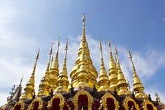 Guld- pagodas Royaltyfria Foton