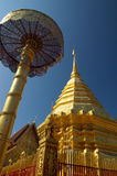 guld- pagodasuthep för doi Royaltyfri Fotografi