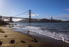 guld- panorama för port arkivfoto