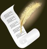 guld- paper penna Arkivbilder