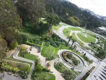 guld- park för port arkivfoto