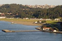 guld- parkpresidio för port Arkivfoton