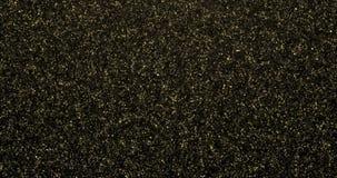 Guld- partikelyttersidabakgrund med ljus effekt Kretsad animering stock video