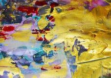 Guld- pastellfärgat suddigt mörker brända fläckar, abstrakta vattenfärgpastelltoner Royaltyfri Bild