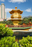 Guld- paviljong av perfektion i Nan Lian Garden, Hong Kong arkivbilder