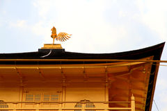 Guld- paviljong för Kinkakuji tempel på Kyoto Japan Royaltyfri Foto