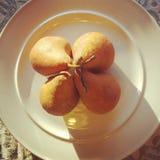guld- pears Royaltyfri Bild