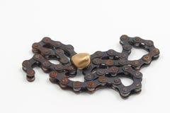 Guld- pebbles Arkivbild