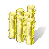 Guld- pengar. Fotografering för Bildbyråer