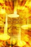 guld- pengar för australiensisk bakgrund Royaltyfri Bild