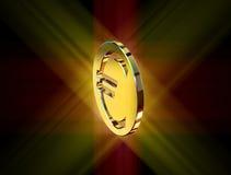 Guld- pengar för eurovalutasymbol vektor illustrationer