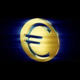 Guld- pengar för eurovalutasymbol stock illustrationer