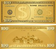 Guld- pengaranmärkning för att modig passion ska spela, kassa, anmärkningen vektor illustrationer